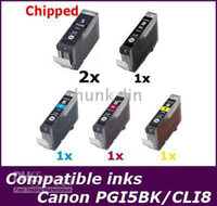 Wholesale 6x Non oem Ink PGI Bk CLI BK C M Y w chipset for Canon MP610 MP800 MP800R MP810 MP830 iP5300