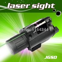 Cheap Wholesale-2in1 Combo caza Tactical CREE Q5 LED Flashlight LIGHT 200LM +Green Laser Sight For pistol gun Handgun Glock 17 19 22 20 23 31 37