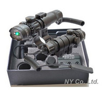 Wholesale Adjustable w Mounts Tactical Hunting Rifle Green Laser Sight Dot Scope Hunting Optics Equipment