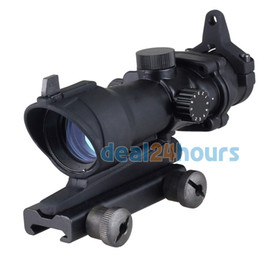 Wholesale-New Tactical Hunting 1x32 Illumination Red Green Dot Rifle Sight Scope ACOG Style Outdoor Hunt Free Shipping