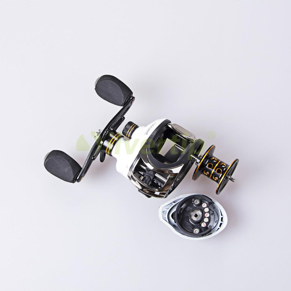Wholesale-Free Shipping 11 BB Right Hand Baitcasting Fishing Reel Bait Casting Baitcast Cast Reels White