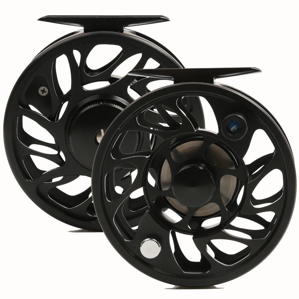 Wholesale-Free shipping!! 06N 7wt and 8w CNC Fly reel machine cut Aluminum Large arbor Fly fishing reel