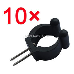 Wholesale standard fishing pole storage tip clips clamps rod holders w screws durable treated Rack clips