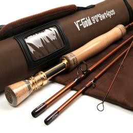 2017 voler v Gros-V-or New Fly Fishing Rod 9FT 8WT 4PCS Fast Action Fly Fishing Rod SK40 Carbon Fiber Avec Cordura le tube Fly Rod voler v ventes