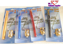 Wholesale Promotion mini Pocket Travel pen Fishing Rods fishing Pole and Reels Combs