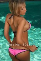 allure swimwear - Dot Design Beachwear Sexy Slimming Bikini Allure Swimwear Cheap Bathing Suits3086