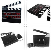 Wholesale Hot Movie Slate Scenie Clapper Clapboard LCD LED Table Wall digital Clock electronic clocks
