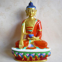 Wholesale Spray painting Tantric Buddha Sakyamuni Buddha Statue Buddhist supplies