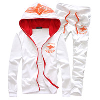 Wholesale cotton thicken mens sports suit casual hoodies pants men tracksuit set colors M XXL CB256