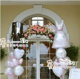 Wholesale New fashion wholesales quality aluminium foil Wedding gift supplier balloons bride hx61cm and bridegroom x38cm pair