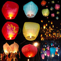big paper lanterns - HOT Big Chinese KONGMING Lanterns Fly Sky Candle Lamp Flying Wishing Paper Light For Wish Party Wedding