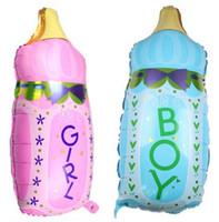 aluminum milk bottle - Large baby milk bottle aluminum foil balloon for happy birthday decoration baby balloon baby toy