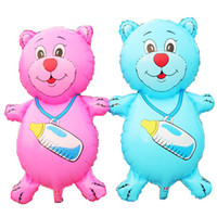 big black bear - new arrival big balloon for baby birthday party suplies bear with milk bottle balloons for birthday party helium foil balloons
