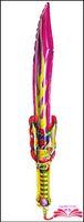 balloon sword - x20cm Sword shape cheering stick sword balloon clappers inflatable balloon stick