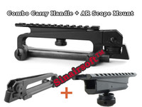 Wholesale Detachable Carry Handle and rear sight W See through Picatinny Rail Mount Combo M4 M16 AR15