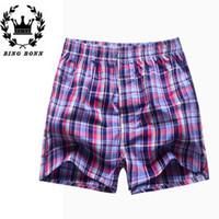 Cheap Wholesale-Men Plaid Shorts Summer Style Bermuda Surf Cotton Jogger Run Mens Swimwear Shorts 2015 Plus Shorts Men Casual For Male Shorts