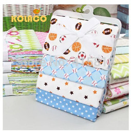 Wholesale Newborn sheets cotton flannel super soft baby bed sheet baby bag cloth single layer blanket pack X76cm