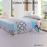 big king size - Blue figures King size Cotton Sheet Coverlet Coverlid Bedclothes Bedspread Counterpane Bed Sheets Big Size x265cm feuille