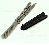 american knives - The new American butterfly sword butterfly practice tool Butterfly practice comb to jilt knife not edge