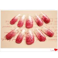 acrylic nail forms - press on nails Acrylic Nail Art Mold Tips Decoration False Nail Tips Dual Form Nail System for UV GEL set