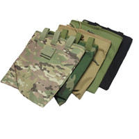 Wholesale Large Capacity Military Tactical Airsoft Paintball Hunting Folding Mag Recovery Dump Pouch W Molle Belt Loop