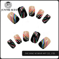 Wholesale Joyme Nail Tips Colorful Patterns Design Full Cover False Nails French Tips ABS Nail Art Tips More Shinning Nature Finger Tips