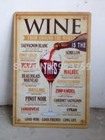 tin crafts - Wine around the world Tin Sign Bar pub home Wall Decoration Retro Metal Art Poster crafts