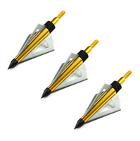 archery - Color Golden Grain Archery Aluminum Tip and Steel Blade Arrow Broadhead for Compound Hunting Bow