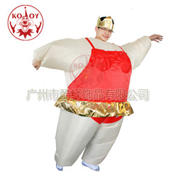 Wholesale Inflatable Ballerina Suit Fancy Dress Fat Costume Suit Hen Stag With Tiara Crown