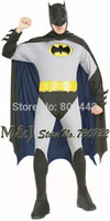 bargain clothing - Bargain Adult men batman costumes Halloween dress party serving Halloween carnival clothes party costumes