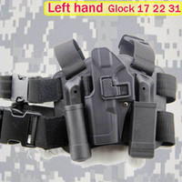 Cheap Wholesale-Left Hand Tactical Glock Holster Army Quality Gun Pistol for Glock 17 19 22 leg holster
