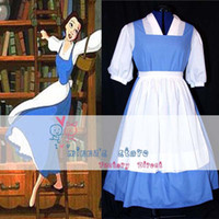 belle cape - Custom made Princess belle blue dress costume Cosplay Village Dress for Halloween