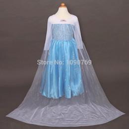 La réalisation de films à vendre-Gros-Retailer 2015 Elsa Robe sur mesure Costume Elsa Robe Cosplay Film Summer Anna Girl Dress Frozen princesse pour les enfants