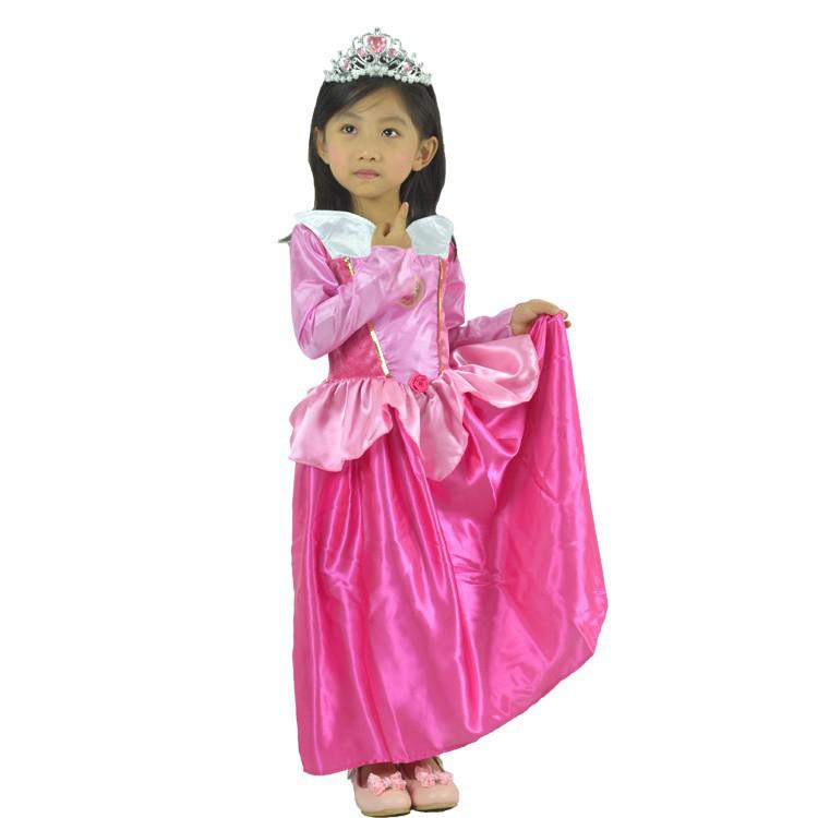 wholesale party cosplay costume supplier cute little girl christmas rose red cinderella skirt princess halloween costumes