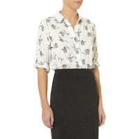 Wholesale Spring Casual Blusas Print Shirt Kimono Women Blouse New Design Vintage Bird Animal Pattern Blouse Femininas