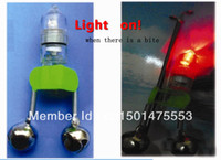 Wholesale Led Chairs Wholesale - Wholesale-3pcs lot New LED Light Fishing Bite Alarm Fish Alarm bells Ring lure