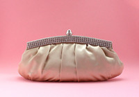 purse hardware - Rhinestone Hardware Elegant Satin Evening Bag Party Bag Clutch Bridal Bag Evening Purse colors