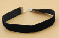 Wholesale s Black Velvet Choker Necklace Goth Gothic Handmade Handmade Retro Burlesque