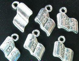 Wholesale 450pcs Tibetan silver quot ABC quot book charms A217