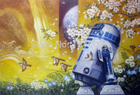artworks movie - Print painting artwork movie robot Star wars interactive r2d2