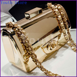 Wholesale Designer Gold plated Acrylic Handbags Famous Brand Evening Bags Fashion Brick Vintage C C Logo Clutch Shoulder Bag DY3310