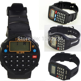 Wholesale pc rubber Calculator watch with Special time and bit calculator display best gift for students Qv6l