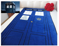 Wholesale cm cm Doctor Who Tardis Blanket Cartoon bed sheet gift Time Machine Tardis Linen Booth Comfortable Blue Woolen Blanket