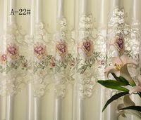 оптовых панельные шторы-Оптовая продажа-Европейский стиль роскошный шелковый занавес ткань из искусственного шелка, шторы панели из искусственного шелка, шторы для гостиной