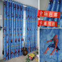 Wholesale new curtain designs spiderman curtains boys curtains for kids room