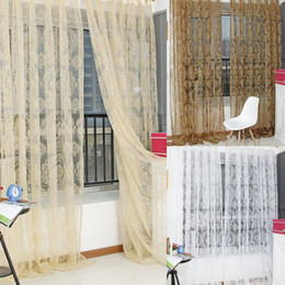 Wholesale-Hot fashion home curtain finished product window screening tulle curtain