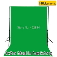 background cotton - New professional Photo lighting studio Chromakey Green screen Muslin background backdrop cotton x2M