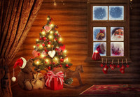 Wholesale cmX150cm christmas backdrops photography Windows Santa gift photography background christmas SD