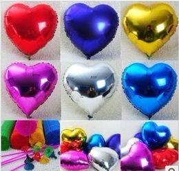 Globos del corazón en Línea-Al por mayor-Nuevo 2015 del globo amor de aluminio decoración de la boda del globo del corazón del globo sin pintura de aluminio 18inch globo