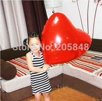 aluminium decals - cm Inch Red Heart Shape Aluminium Foil Decal Balloons Party Wedding Docrative Toy Ballons